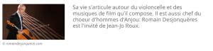 Interview de Romain Desjonquères